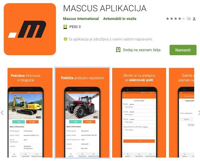 Mascus Aplikacija