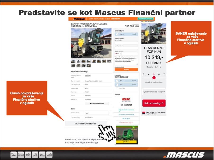 Mascus Finančna storitev za lizing hiše in banke